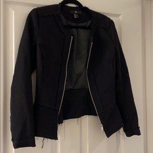 Distressed peplum blazer from H&M size 8